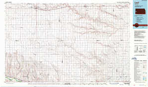 Leoti topographical map