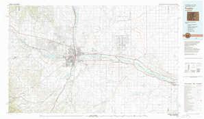 Pueblo 1:250,000 scale USGS topographic map 38104a1