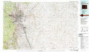 Colorado Springs 1:250,000 scale USGS topographic map 38104e1