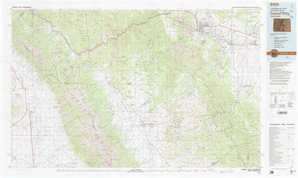 Canon City 1:250,000 scale USGS topographic map 38105a1