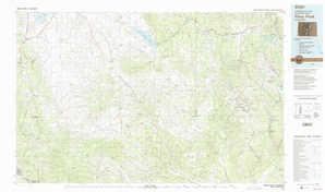 Pikes Peak 1:250,000 scale USGS topographic map 38105e1
