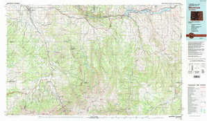 Montrose 1:250,000 scale USGS topographic map 38107a1