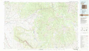 Paonia 1:250,000 scale USGS topographic map 38107e1