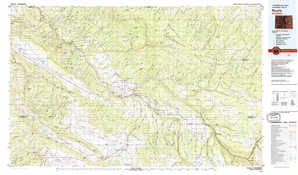 Nucla 1:250,000 scale USGS topographic map 38108a1