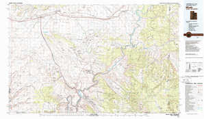 Moab 1:250,000 scale USGS topographic map 38109e1