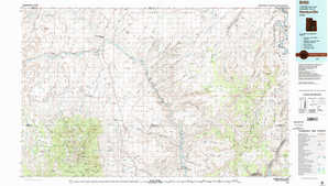 Hanksville topographical map