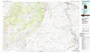San Rafael Desert topographical map