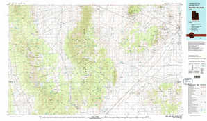 Wah Wah Mountains South topographical map