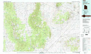 Wah Wah Mountains North topographical map