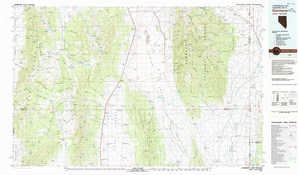 Garrison topographical map