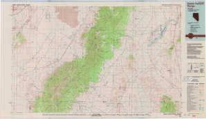 Quinn Canyon Range topographical map