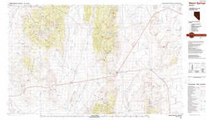 Warm Springs topographical map