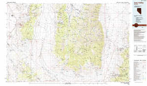 Ione Valley topographical map