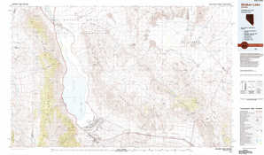 Walker Lake topographical map