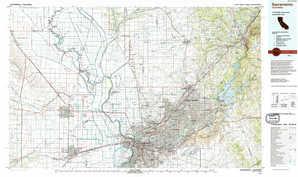 Sacramento topographical map