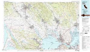 Napa 1:250,000 scale USGS topographic map 38122a1