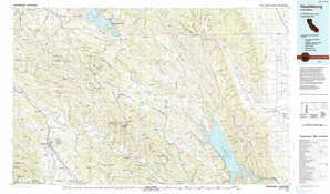 Healdsburg 1:250,000 scale USGS topographic map 38122e1