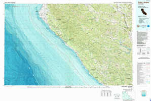 Point Arena topographical map