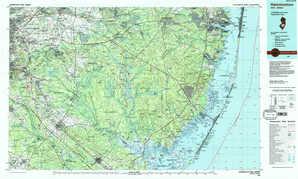 Hammonton topographical map