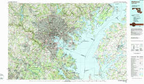 Baltimore topographical map