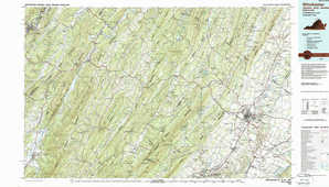 Winchester topographical map