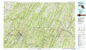 Cumberland topographical map