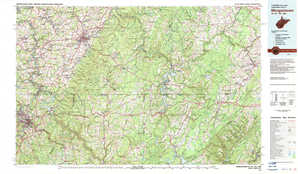 Morgantown topographical map