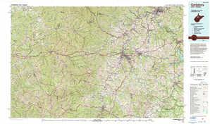 Clarksburg topographical map