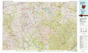 Senecaville Lake topographical map