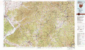 Wellston topographical map