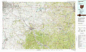 Lancaster topographical map