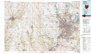 Dayton topographical map