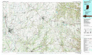 Greensburg topographical map