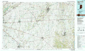 New Castle topographical map