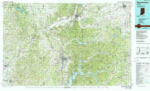 Bloomington topographical map