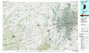 Indianapolis topographical map