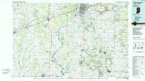 Terre Haute topographical map