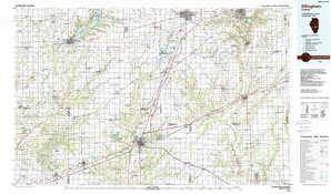 Effingham 1:250,000 scale USGS topographic map 39088a1
