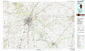 Springfield topographical map