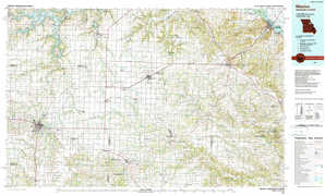 Mexico topographical map