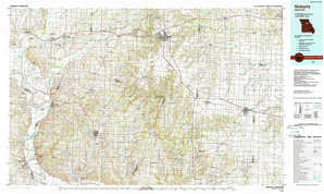 Moberly topographical map