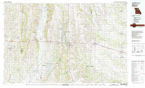Macon topographical map