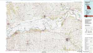 Marshall topographical map