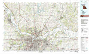 Kansas City topographical map