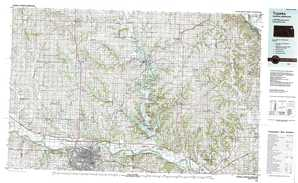 Topeka topographical map