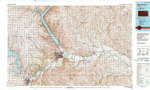 Manhattan topographical map