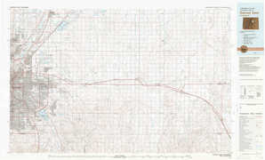 Denver East topographical map