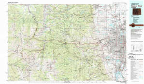 Denver West topographical map