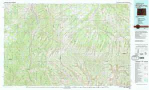 Douglas Pass topographical map