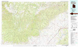 Westwater topographical map